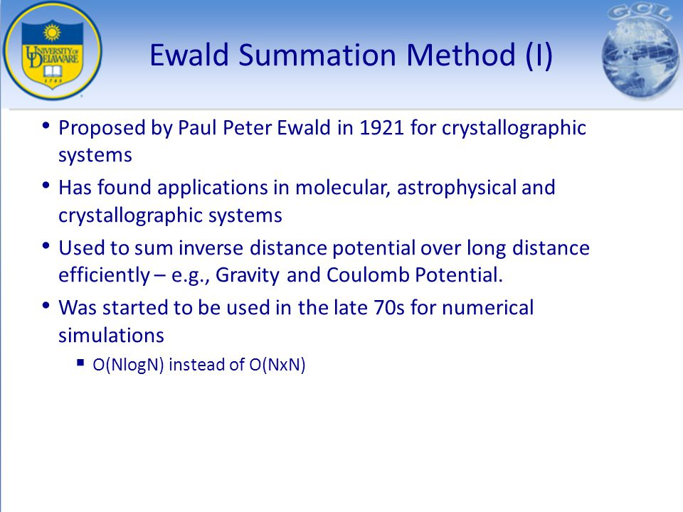 Ewald Summation Method (I)