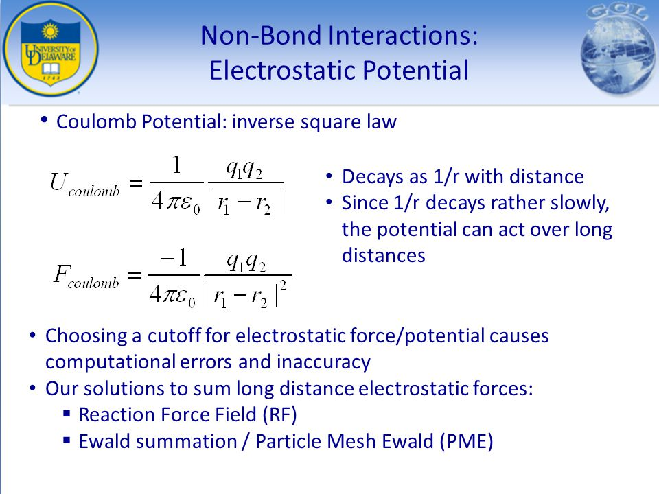 Non-Bond Interactions: Electrostatic Potential