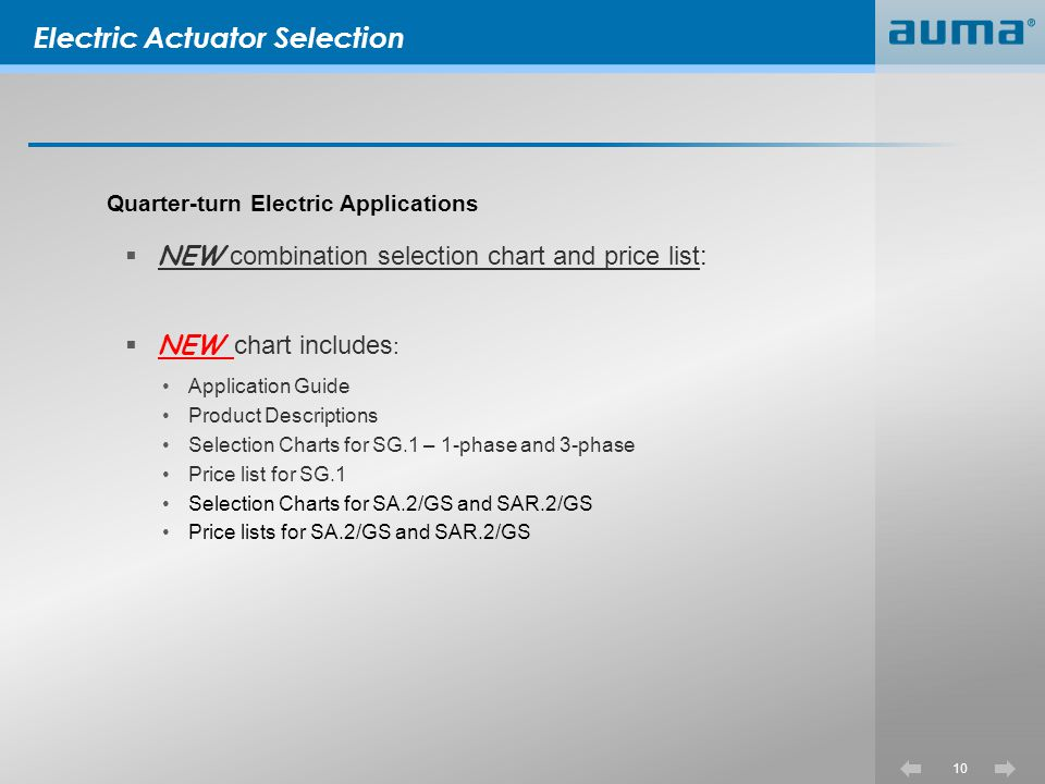 Electric Actuator Selection