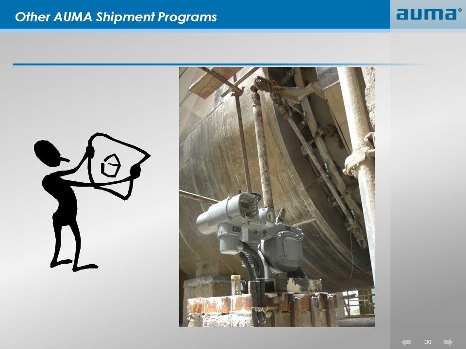 Other AUMA Shipment Programs
