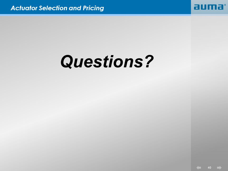 Actuator Selection and Pricing