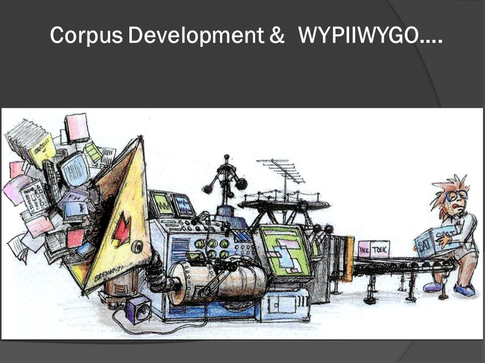 Corpus Development & WYPIIWYGO….
