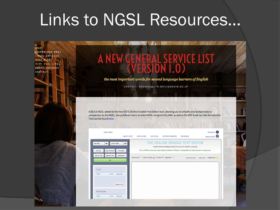 Links to NGSL Resources…