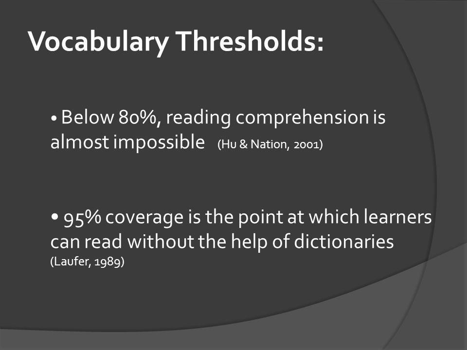 Vocabulary Thresholds: