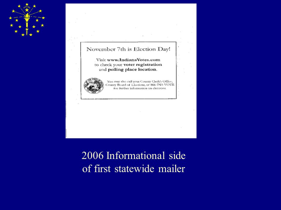 2006 Informational side of first statewide mailer
