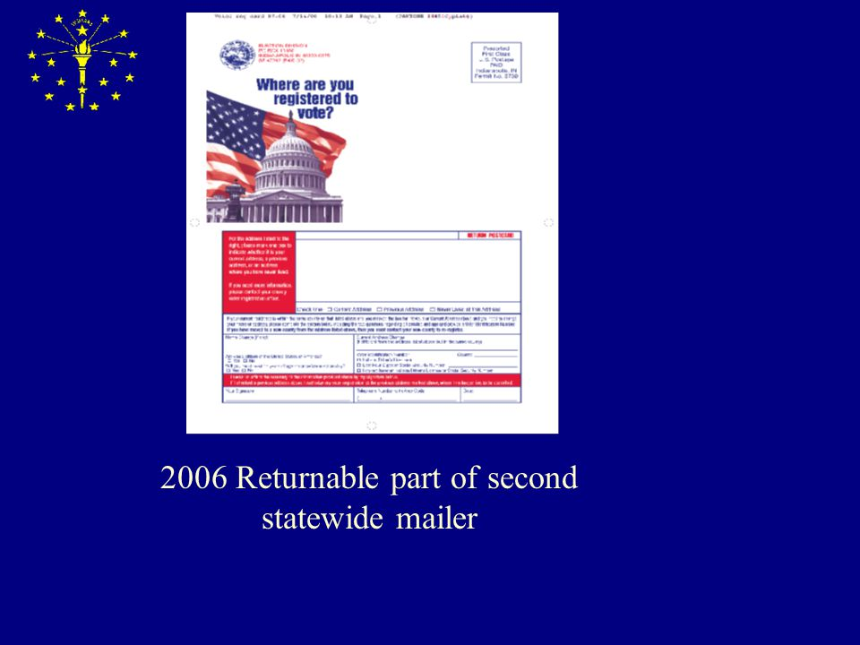 2006 Returnable part of second statewide mailer