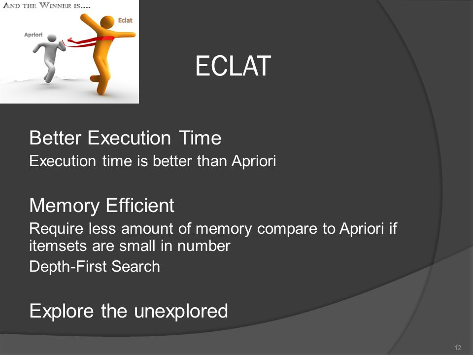 ECLAT Better Execution Time Memory Efficient Explore the unexplored