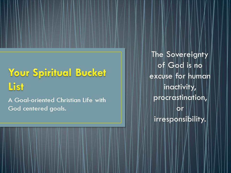 Your Spiritual Bucket List