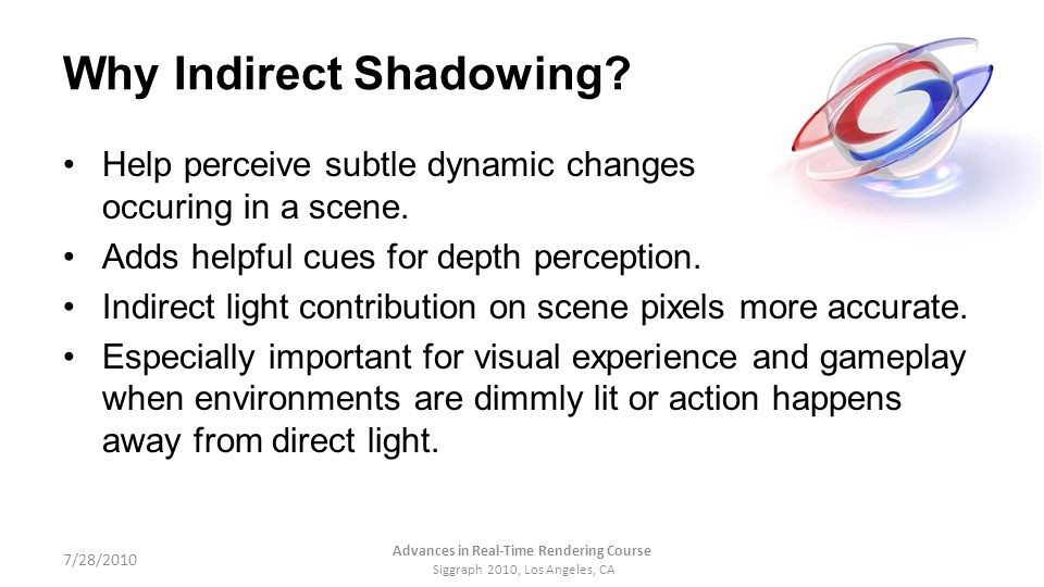 Why Indirect Shadowing