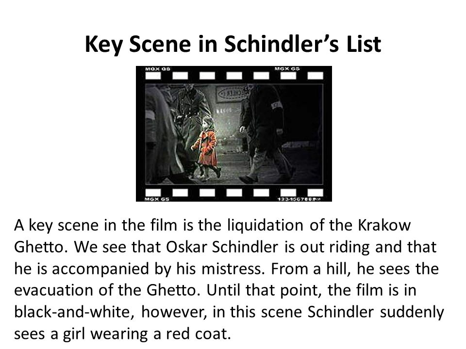 Key Scene in Schindler's List