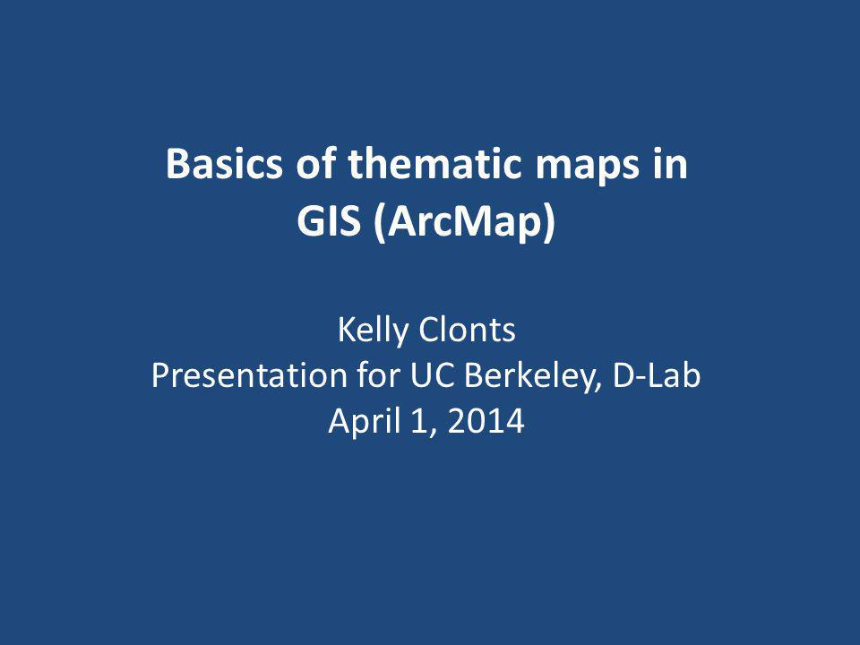Basics of thematic maps in GIS (ArcMap)