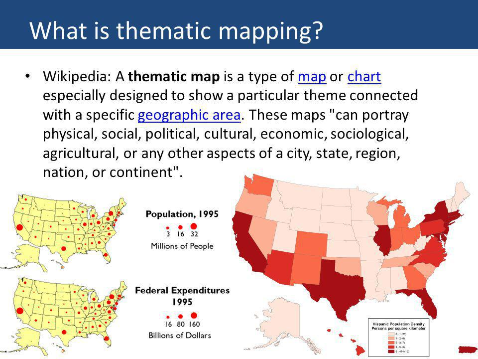 What is thematic mapping