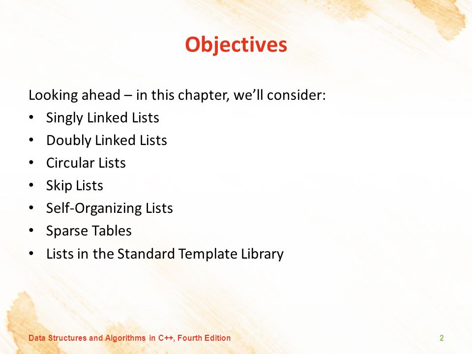 Objectives Looking ahead – in this chapter, we'll consider: