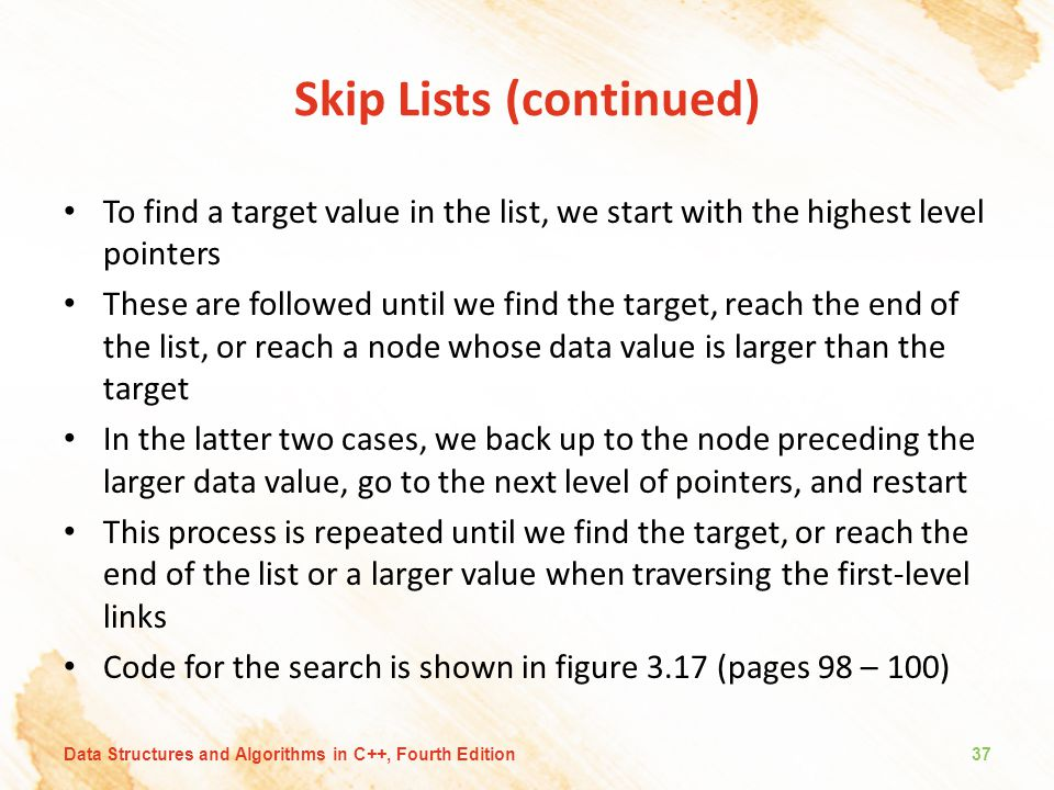 Skip Lists (continued)