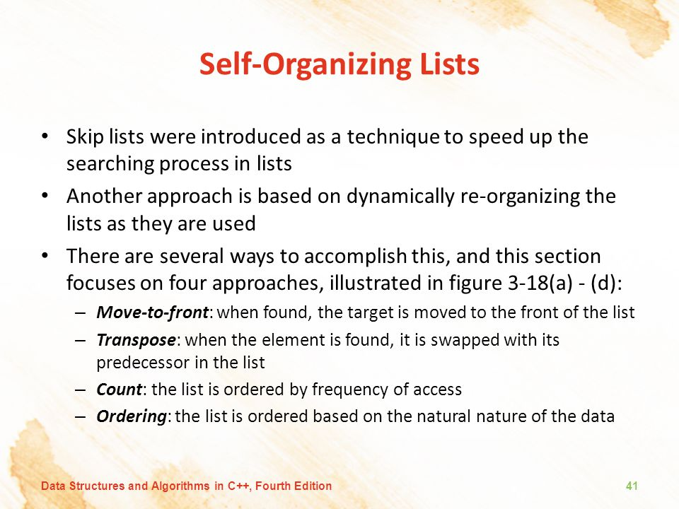 Self-Organizing Lists