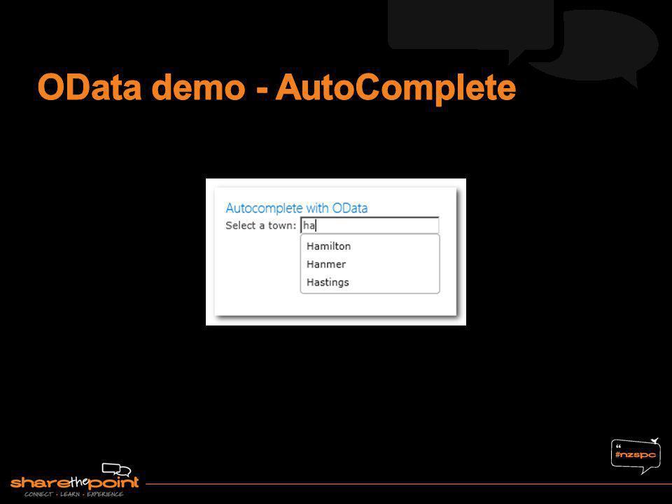 OData demo - AutoComplete
