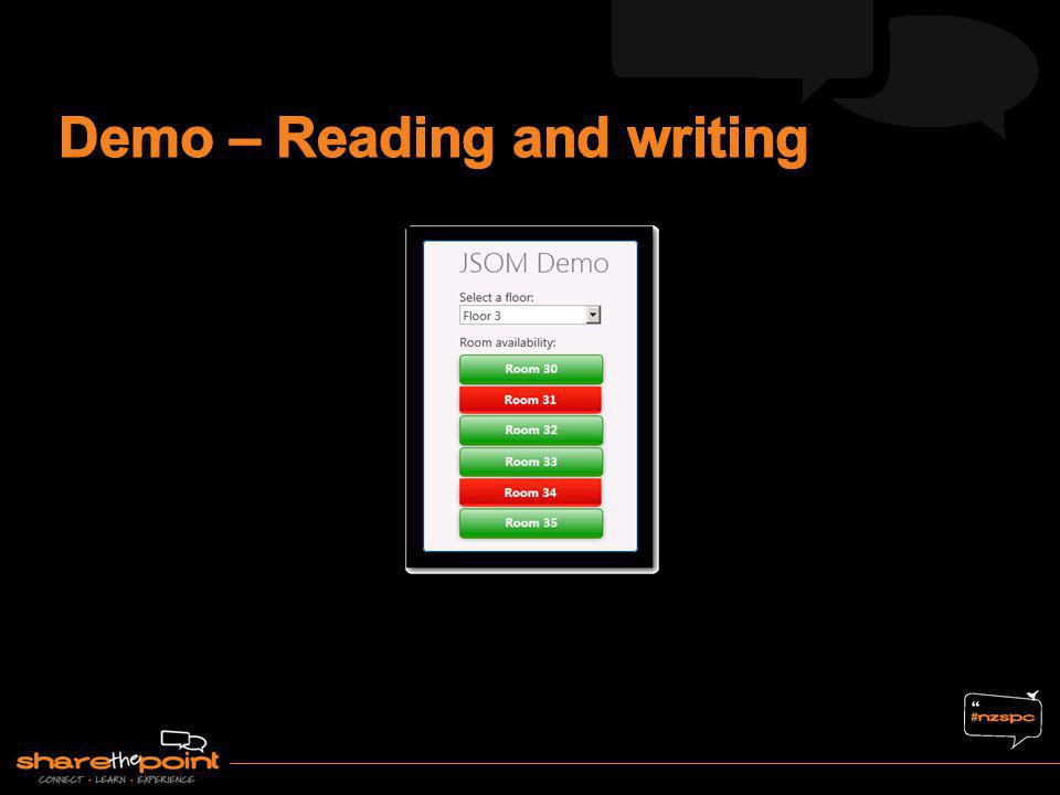 Demo – Reading and writing