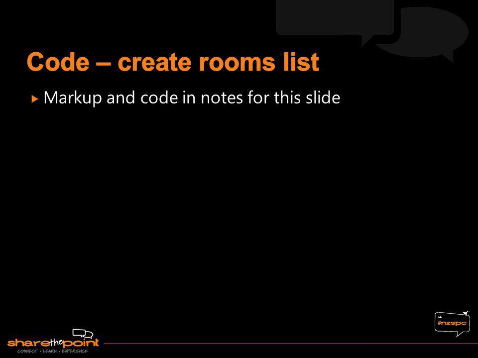 Code – create rooms list