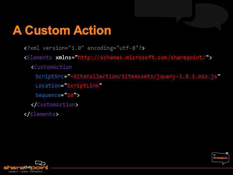 A Custom Action < xml version= 1.0 encoding= utf-8 >