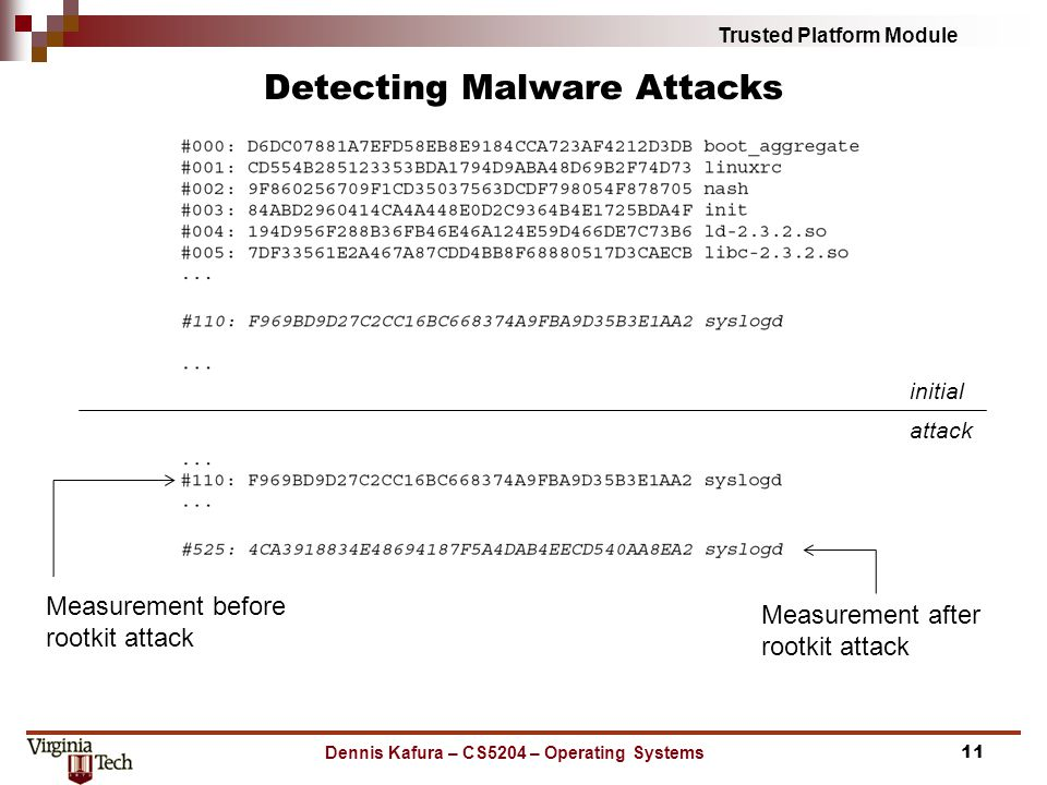 Detecting Malware Attacks