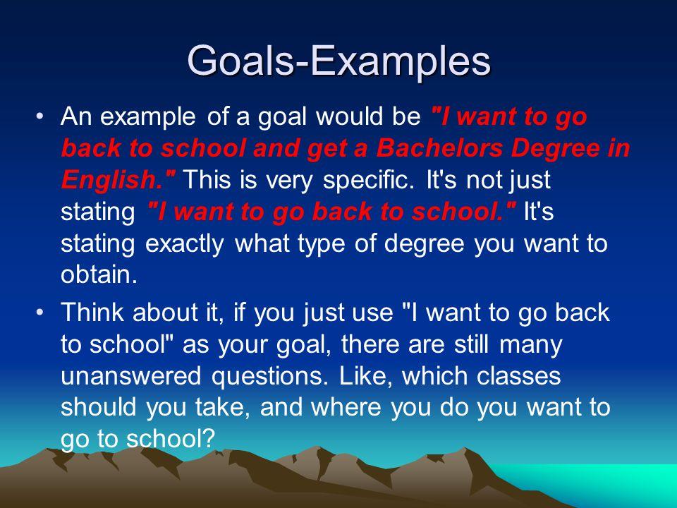 Goals-Examples