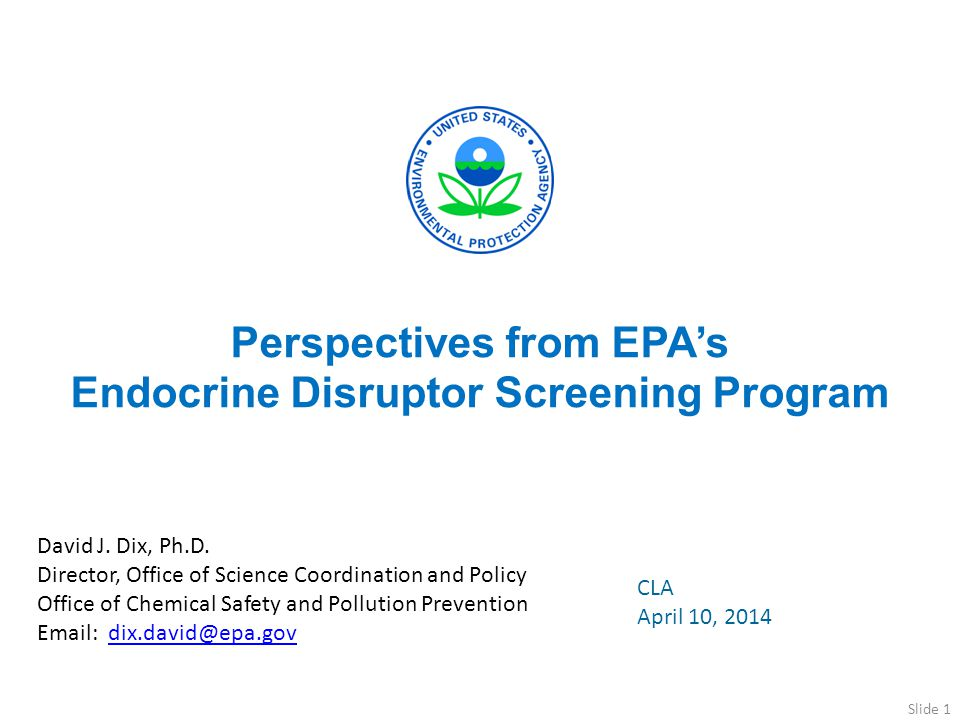 Perspectives from EPA's Endocrine Disruptor Screening Program