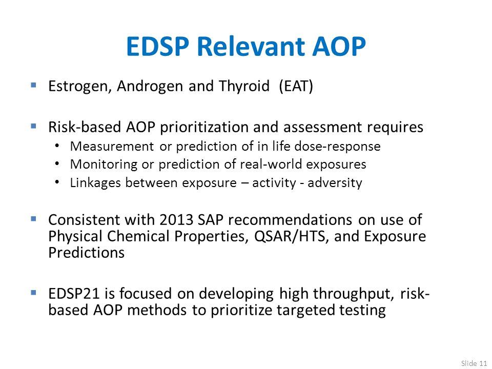EDSP Relevant AOP Estrogen, Androgen and Thyroid (EAT)