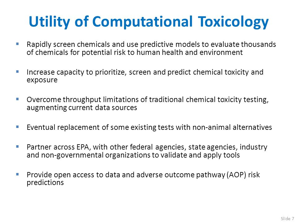 Utility of Computational Toxicology