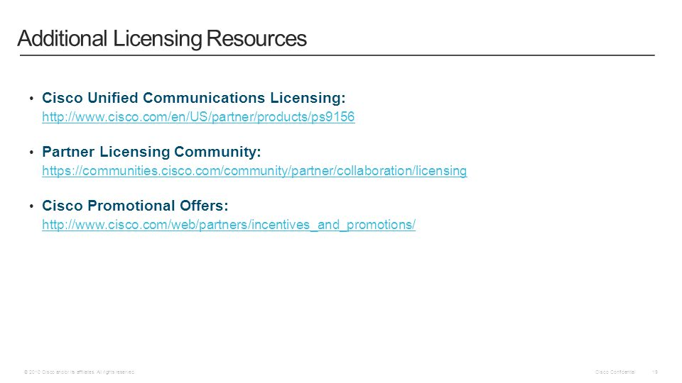 Additional Licensing Resources
