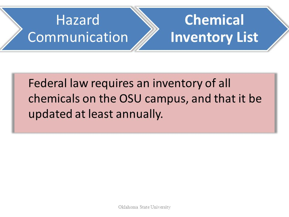 Chemical Inventory List