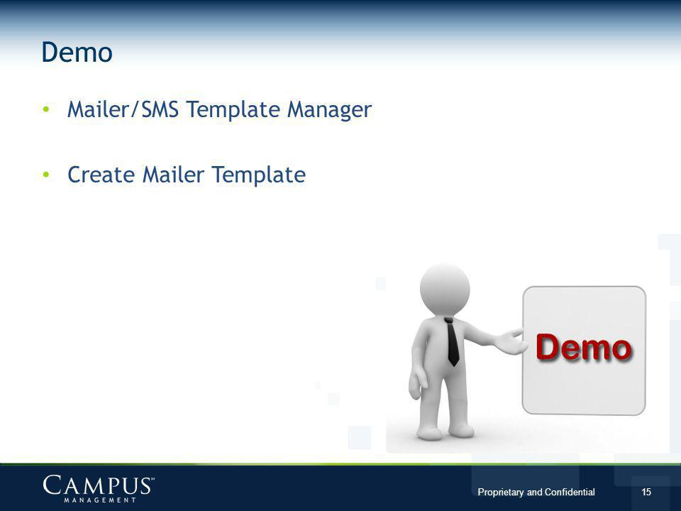 Demo Mailer/SMS Template Manager Create Mailer Template