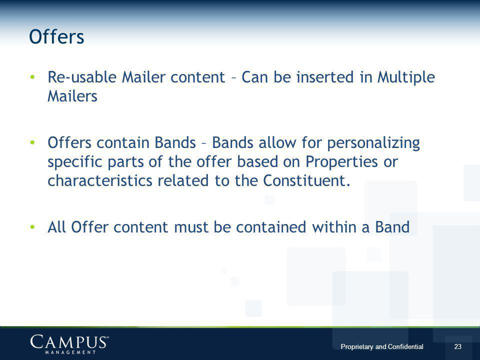 Offers Re-usable Mailer content – Can be inserted in Multiple Mailers