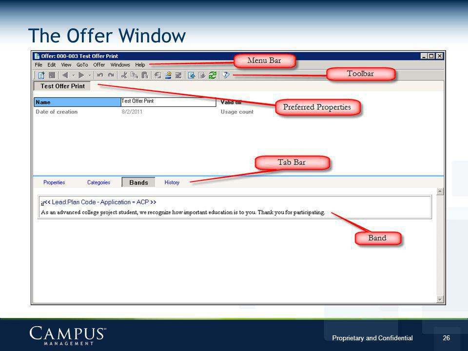 The Offer Window