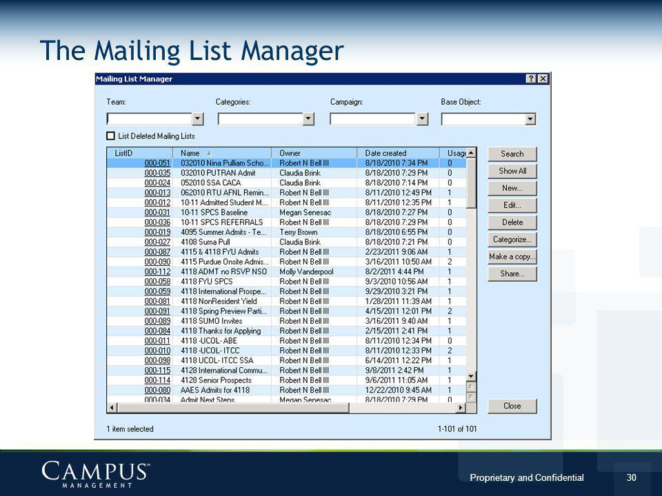 The Mailing List Manager