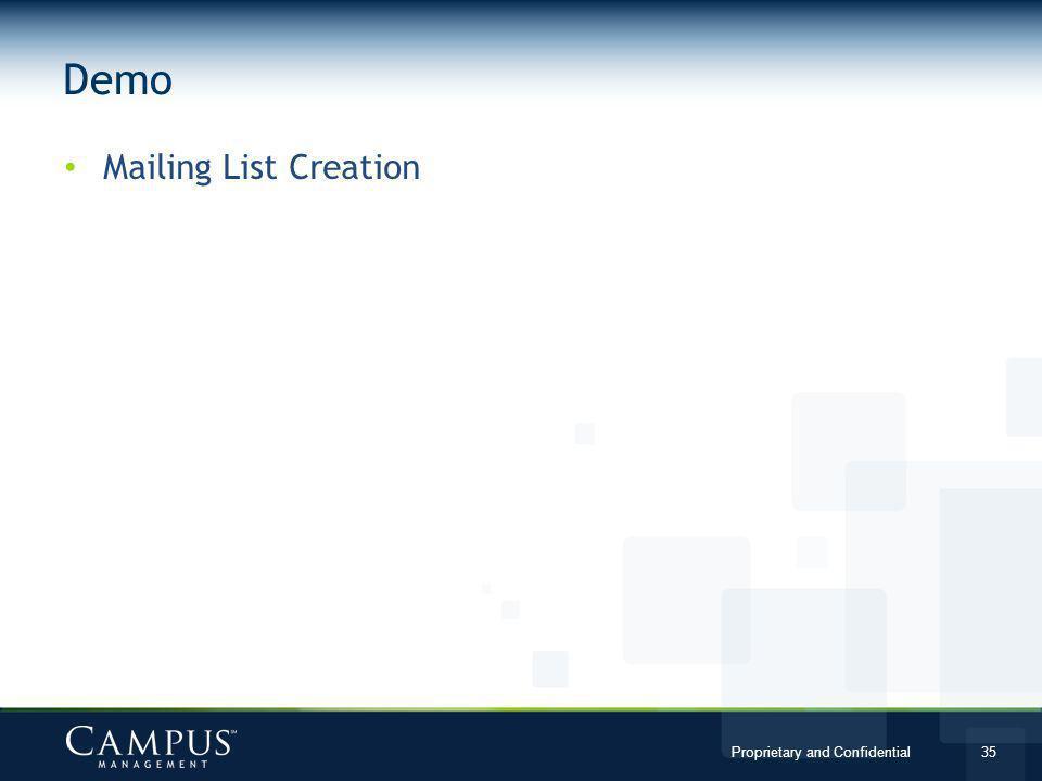 Demo Mailing List Creation