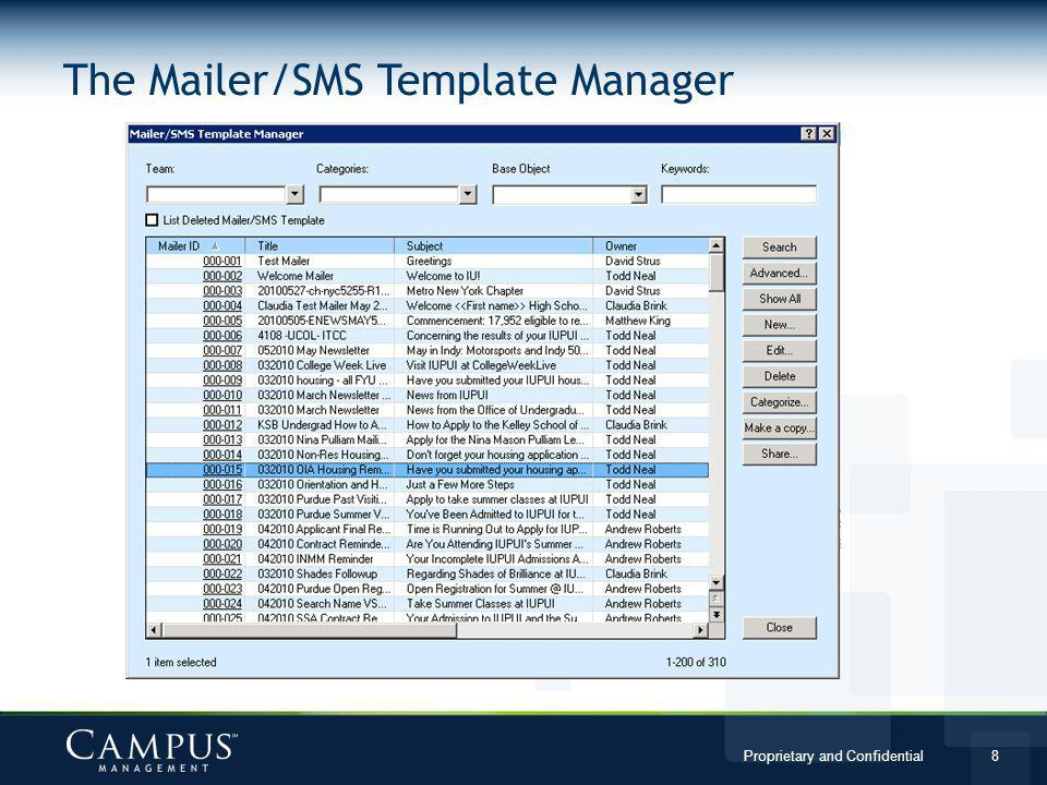 The Mailer/SMS Template Manager