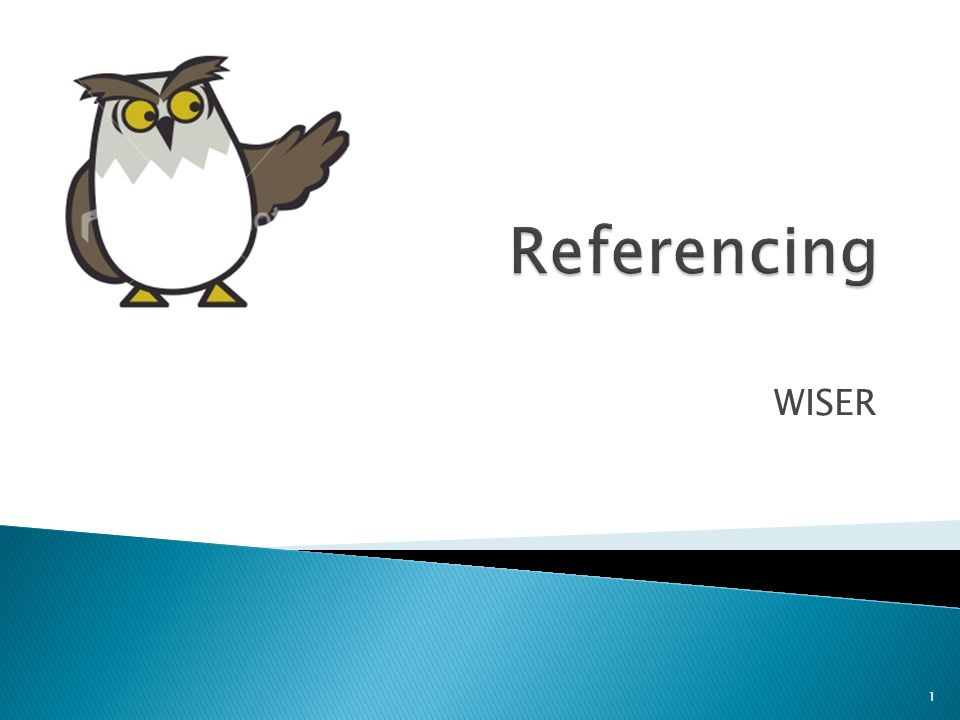 Referencing WISER.