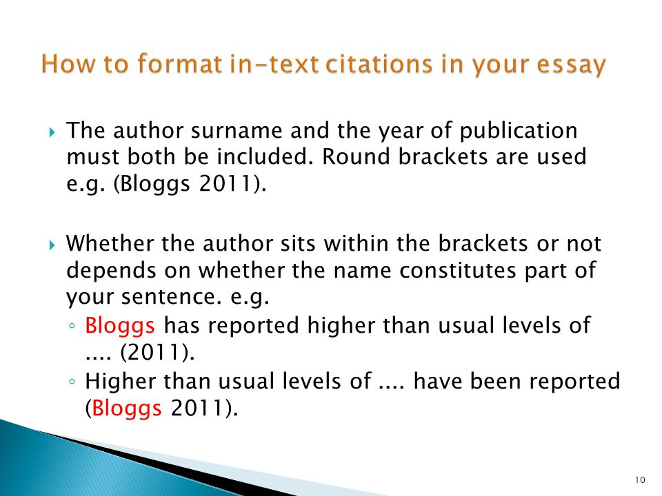 How to format in-text citations in your essay
