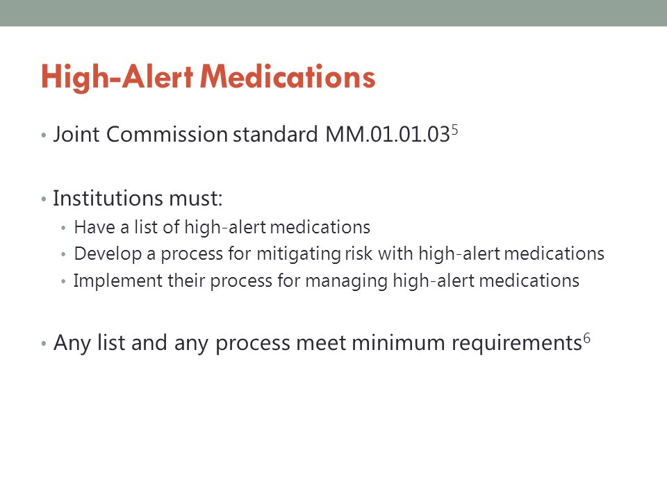 High-Alert Medications