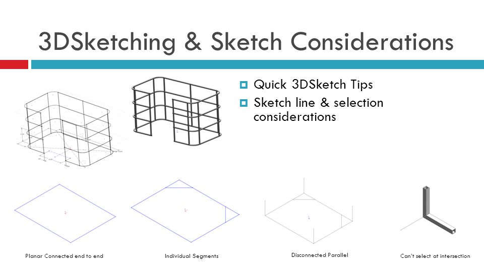 3DSketching & Sketch Considerations