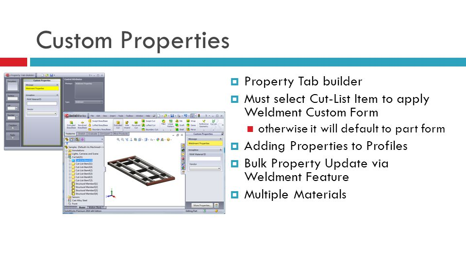 Custom Properties Property Tab builder