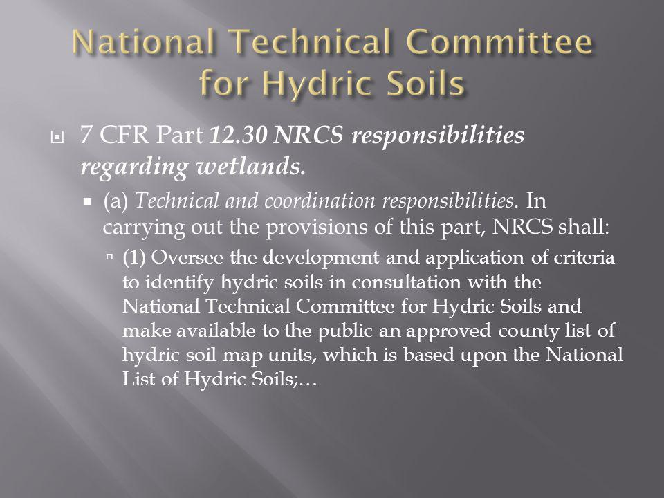 National Technical Committee for Hydric Soils