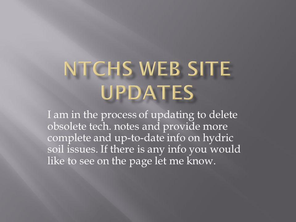 NTCHS Web Site Updates
