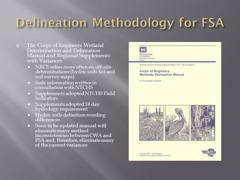 Delineation Methodology for FSA