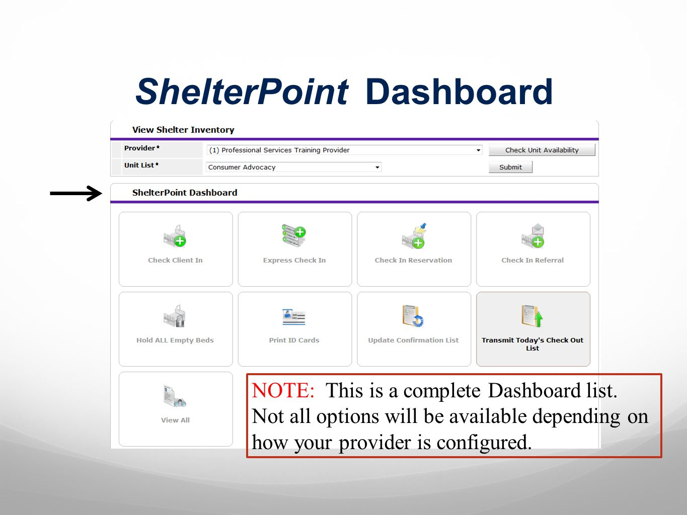 ShelterPoint Dashboard