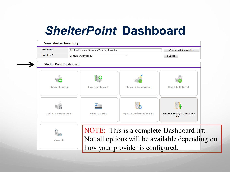 ShelterPoint Dashboard