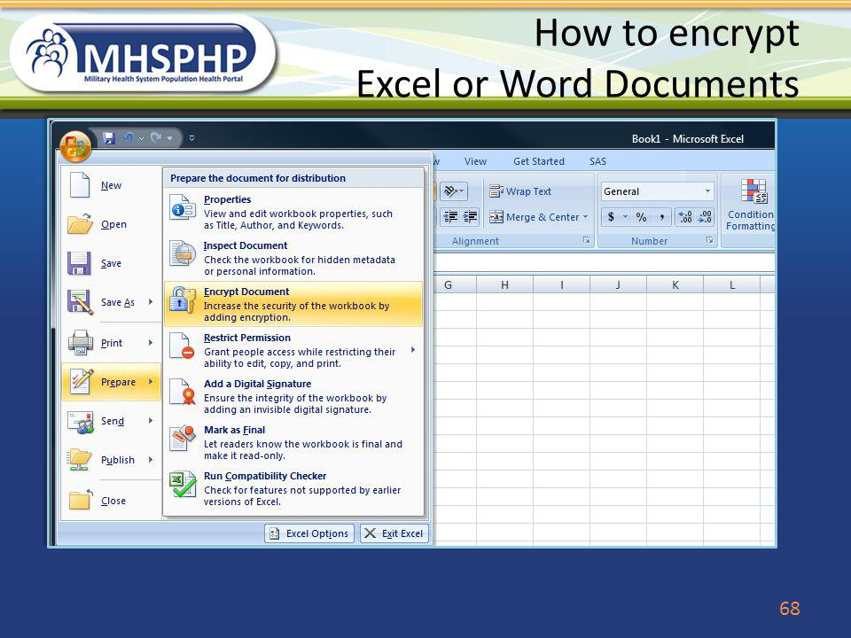 How to encrypt Excel or Word Documents