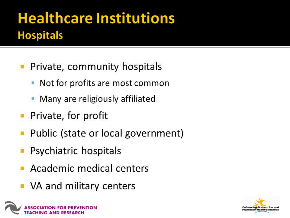 Healthcare Institutions Hospitals