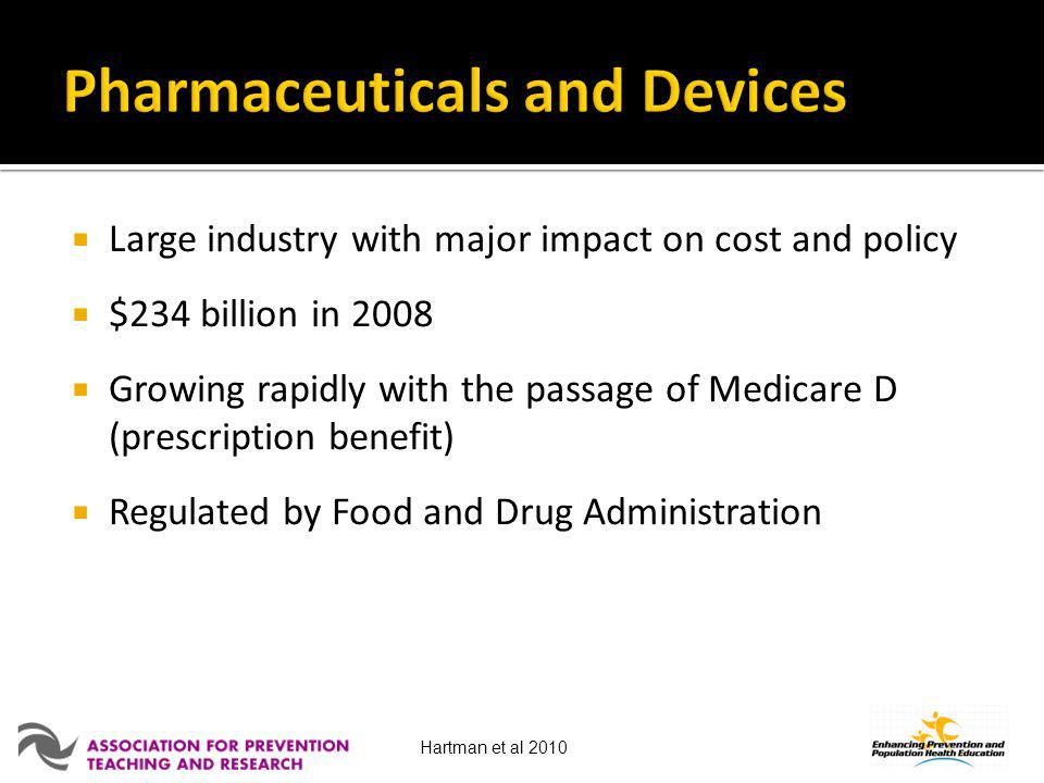 Pharmaceuticals and Devices