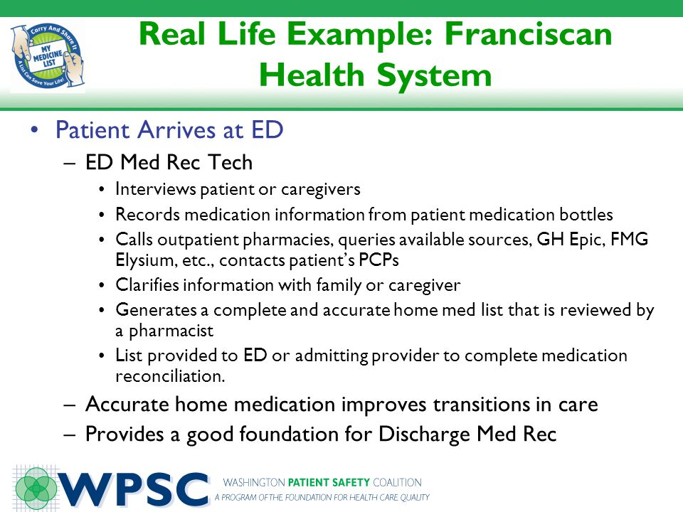 Real Life Example: Franciscan Health System